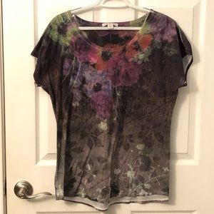 ♥️3/$25 - Floral tee from Coldwater Creek